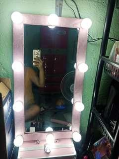 Vanity Mirror (Glitter Pink)