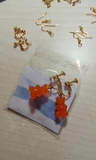 小熊軟糖耳夾