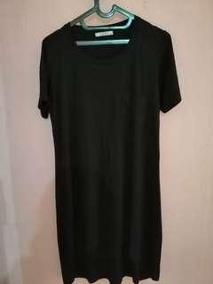 Dress santai warna hitam
