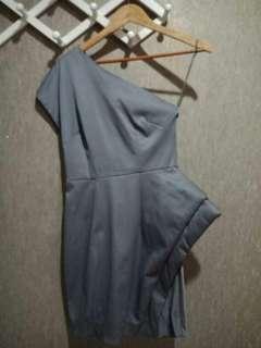 Saint&Sinner Grey Futuristic Dress