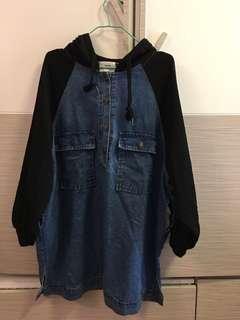 韓國衛衣牛仔裙