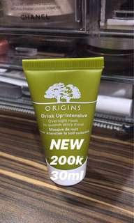 NEW - masker origins drink up intensive overnight mask deluxe size - best seller!!