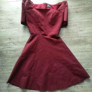 Boom Sason Red Filipiniana Dress
