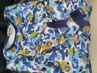 Bape 海棉寶寶 童裝長袖
