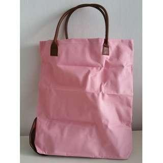 Style Pink Foldable Tote Bag - Great for Travelling in Style