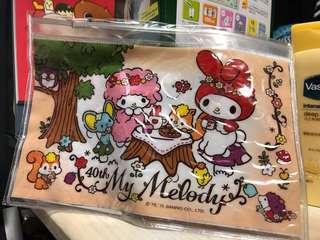 [全新包郵]台灣40周年展 My Melody密實小物收納袋 筆袋 sanrio 美樂蒂