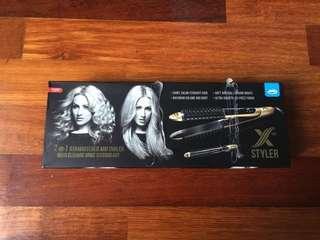 X-Styler Hair Straightener & Curler / Styler - barely used