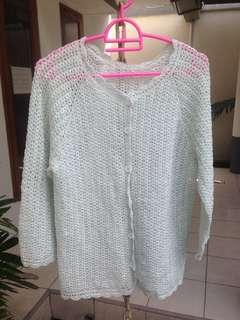 Uniqlo Mint Knitted Cardigan Bigsize / Big Size / Jumbo / Curvy