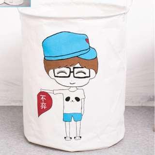 BOY FOLDABLE LAUNDRY BASKET BAG
