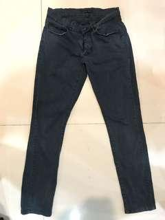 Zara basic jeans (dark green)