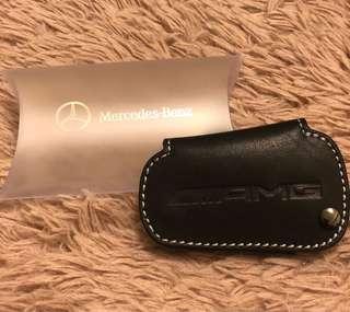 Mercedes-Benz 原廠鑰匙AMG皮套 兩個