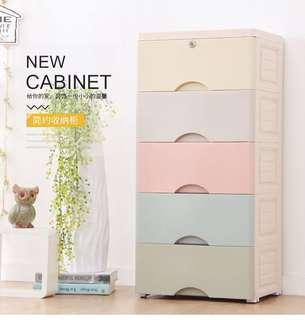 🚚 (Seal Design ) 5 tiers storage drawers cabinet