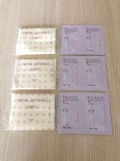 [包郵] $36全圖 Albion Activation Moisture Milk II + 3包化妝棉 (Sample 試用裝)