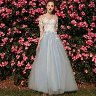 Gown Collection - Beautiful Swan Design Tiffany Blue Gown
