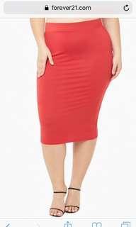 Forever 21 Red Pencil Skirt