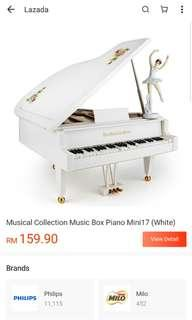 Big The classical piano musical box with dancing ballerina