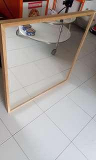 Ikea bathroom 70cm Sq Mirror with detachable hooks for hanging