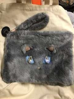 Pernelle x王菲 cat crystal fur clutch 毛毛貓造型手提包