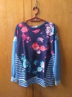 Sweater Biru Deschannel