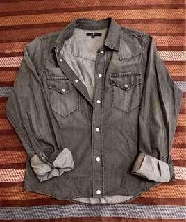 🚚 7 for all mankind 洗舊 灰色 襯衫 好萊塢品牌 歐美品牌