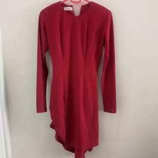 Boom Sason Red Flowy Dress