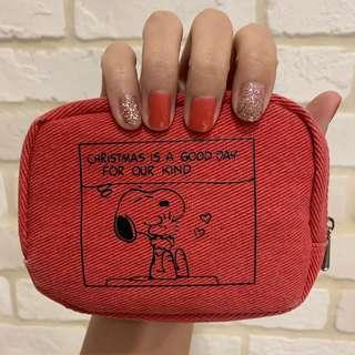 Snoopy紅色小化妝包