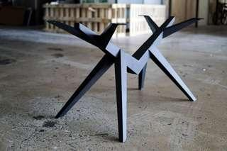 Powder coated spider table leg promotion