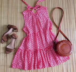 Eyelet Halter dress