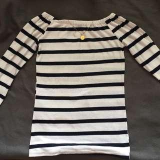 Stripes Off Shoulder