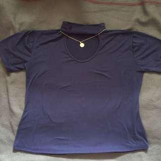 Navy Blue Choker Top