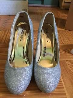 Silver Shoes with Heels