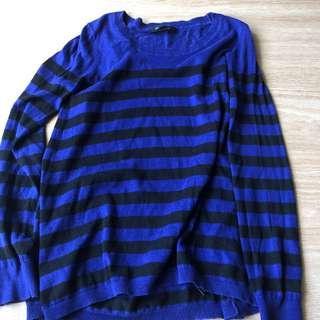 🚚 Punk rock striped long sleeve top (knit)