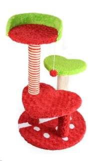 Loveable Cat condo / Scratching Pole(Red)
