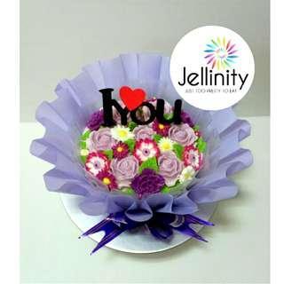 "6"" Purple Floral Bouquet Jelly Cake"