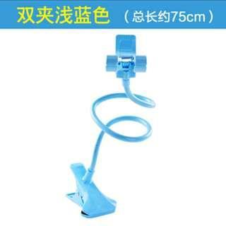 🚚 BN light blue handphone holder clip stand flexible rotatable