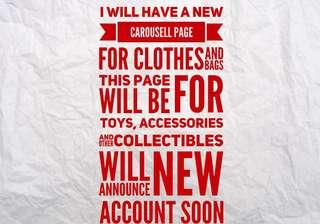 new account for clothes and bags