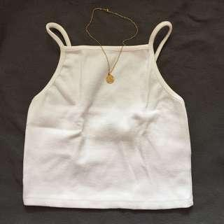 Forever21 Ribbed Halter Top