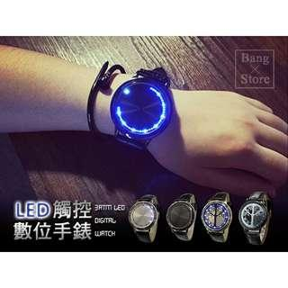🍀BANG LED觸控數位錶 智能 觸控 創意概念 個性 學生 女錶 情侶 對錶 韓版 男錶 手錶 腕錶 💵:660元               🚙:60