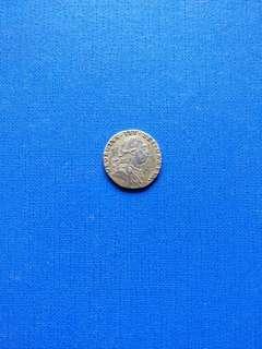 🚚 Great Britain 6 pence 1787 no hearts