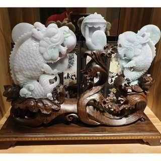 翡翠A货-鱼跃龙门(龙鱼)