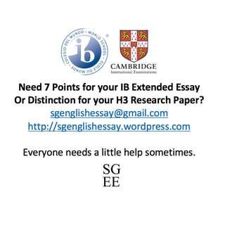 IB Extended Essay & A Level H3 Research Paper: Model Essays