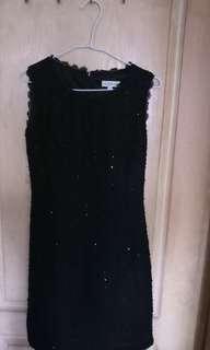 夏季洋裝(黑底外縫亮片)