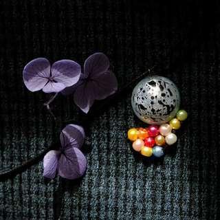 【彩雲追月 】項鏈 滿月 月球 necklace  Emma Tam Creations accessories moon 情人節 婚禮 新娘 耳環