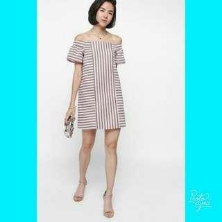 #sharethelove Stripe Off Shoulder Dress by Love Bonito