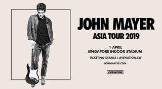 John Mayer Singapore 2019 CAT 3 SECTION 223 ROW 25 1 PAIR