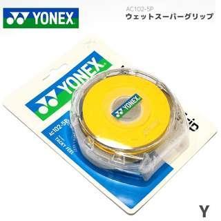Yonex AC102-5P JP coded badminton overgrip