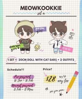 {🖤WTB/LF} BTS meowkookie jungkook doll