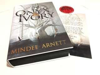 [Signed] Onyx and Ivory by Mindee Arnett (FairyLoot Edition w/ author's letter)