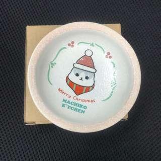 ㄇㄚˊ幾兔 餐廳限定 盤子 碟子 棉花糖碟 麻吉兔 台灣 machiko Yukiji 麻幾兔 聖誕節