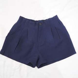 🚚 深藍色秋冬短褲